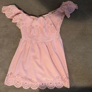x REVOLVE Dream Vacay Dress Pale Pink